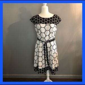 Kim Rogers Black & White Dress . Size 14